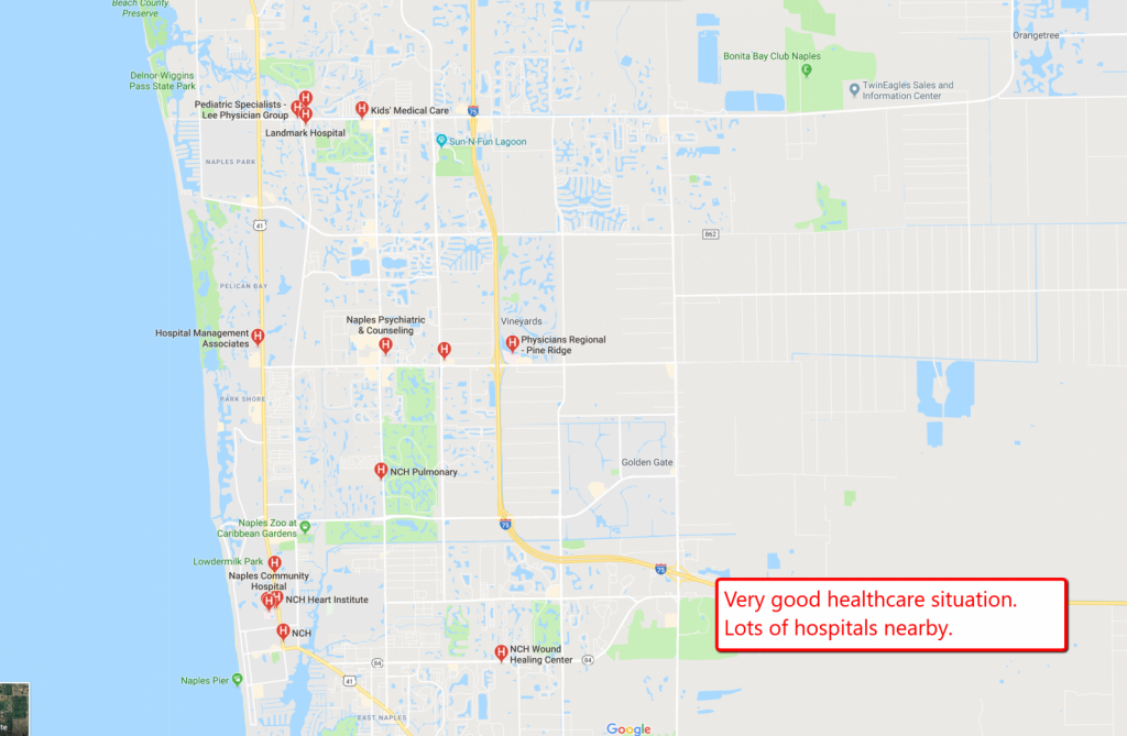1.14 Acre Residential Lot For Sale Naples Florida - Further Reduced - Golden Gate Estates Naples Florida Map