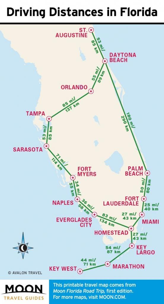 1-Week Florida Road Trip: Miami, The Atlantic Coast, & Orlando - Florida Road Trip Map