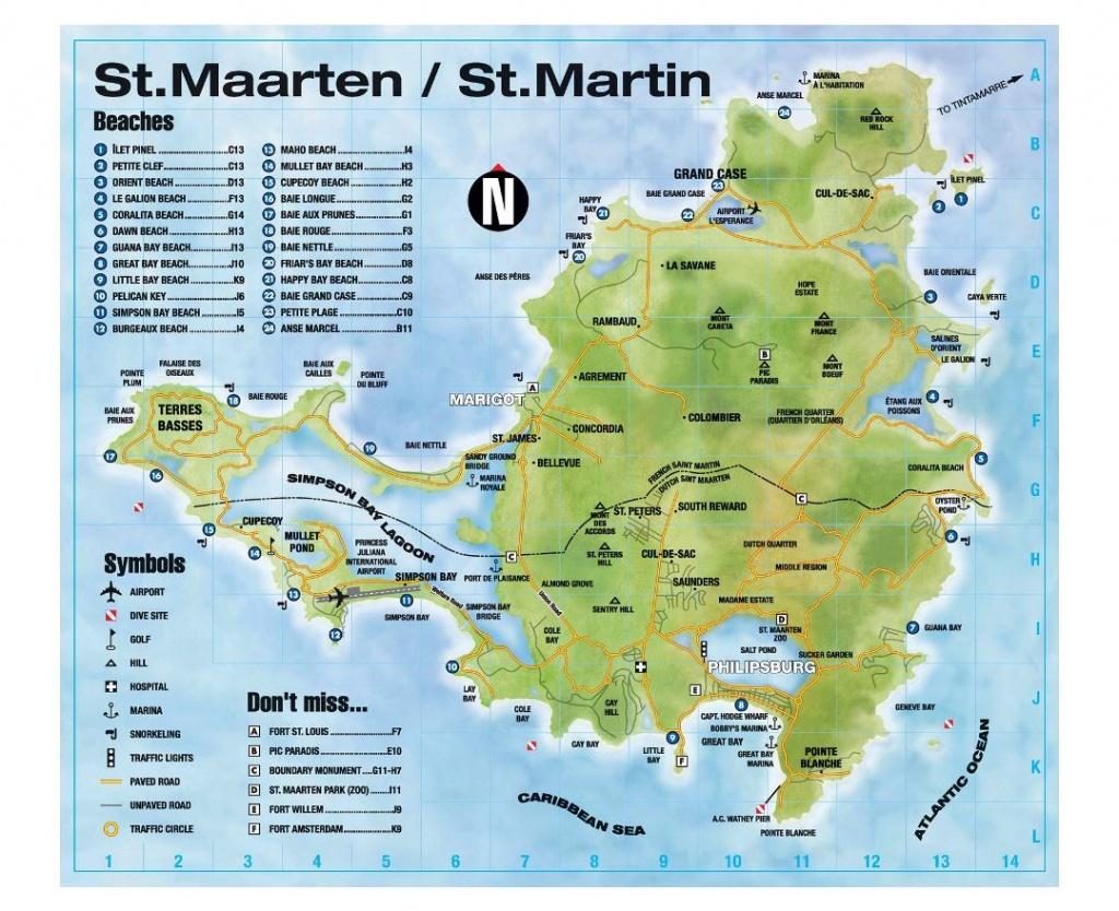 100+ St Martin On World Map – Yasminroohi - Printable Road Map Of St Maarten