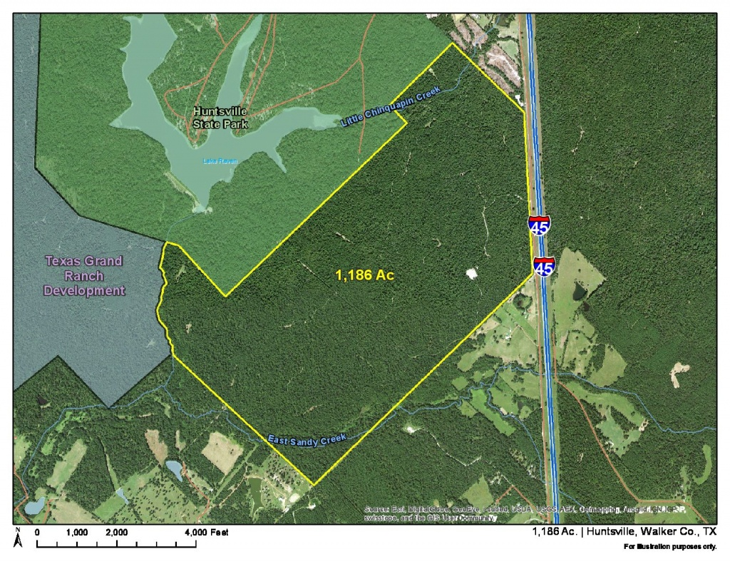 1186 Acres   I-45 Frontage   Homeland Properties - Texas Grand Ranch Map