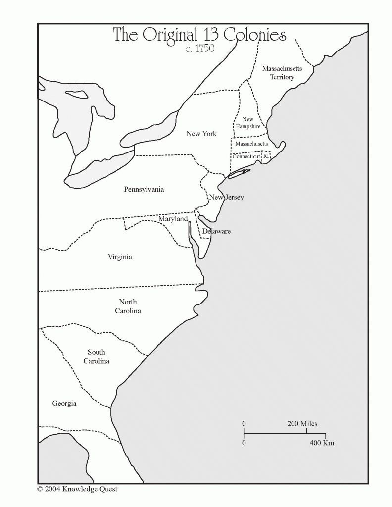 13 Colonies Blank Map | Ageorgio - Map Of The Thirteen Colonies Printable
