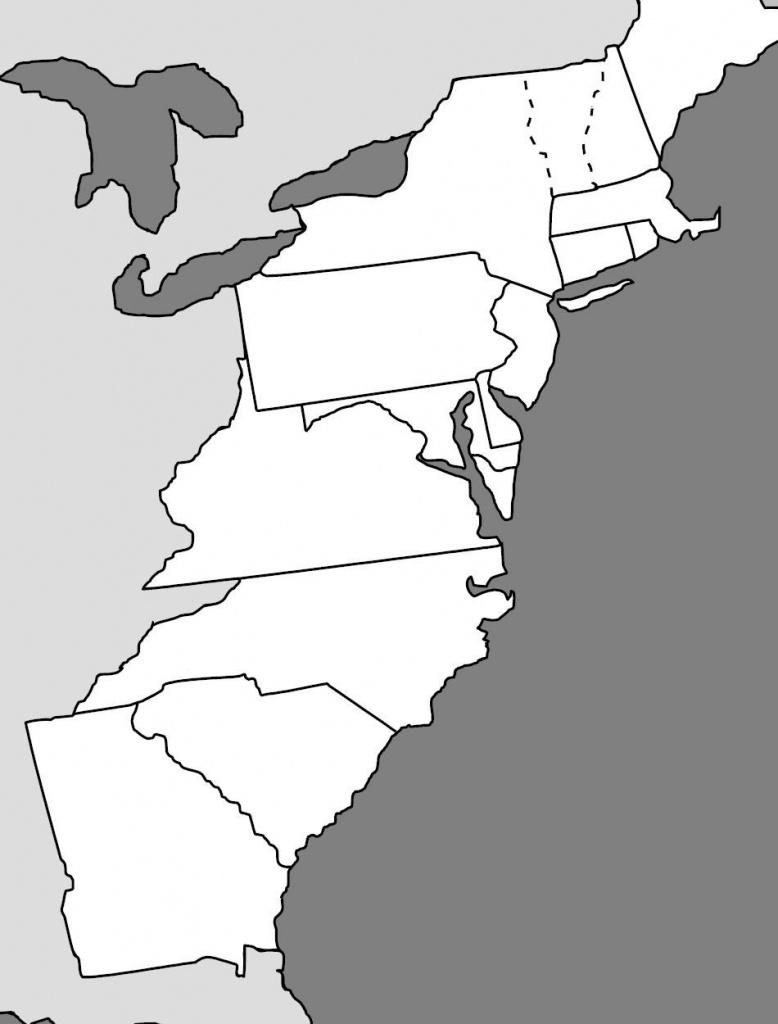 13 Colonies Map   Homeschool - History   13 Colonies, Colonial, Map Quiz - Map Of The 13 Original Colonies Printable