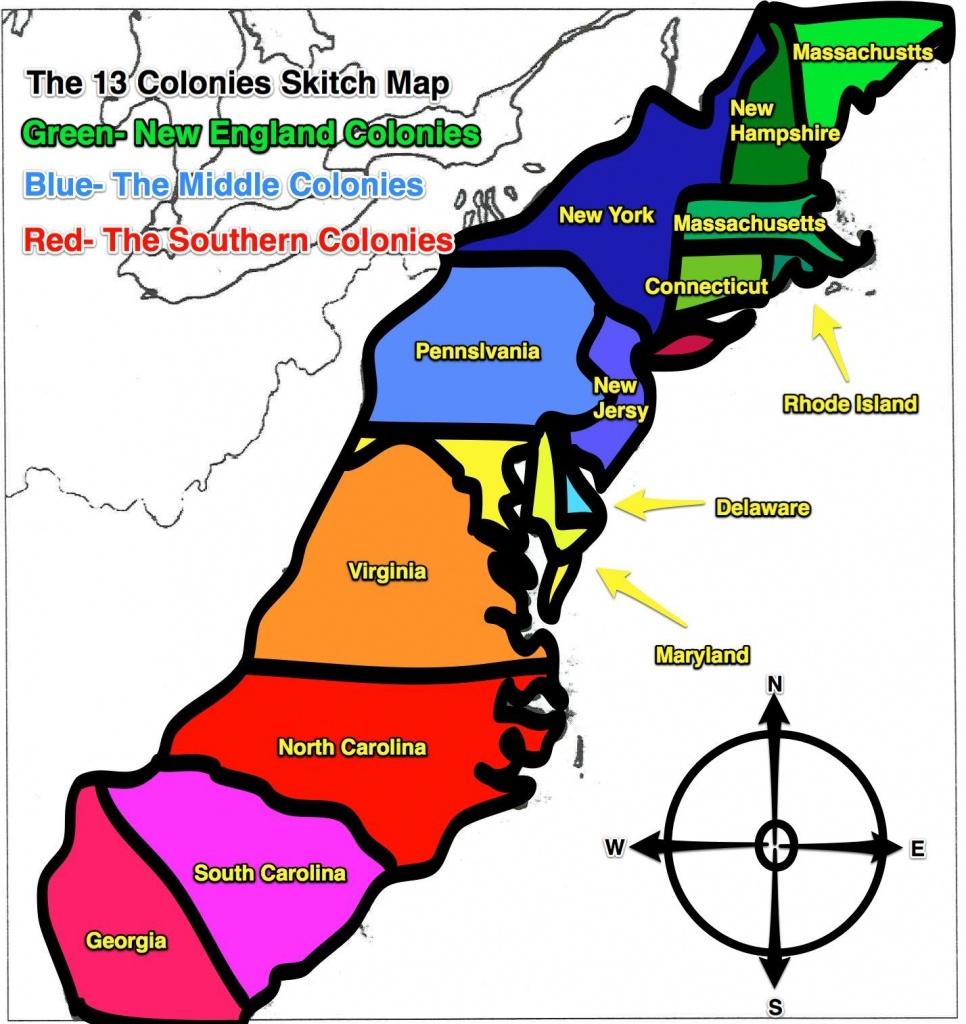 13 Colonies Map   Original+13+Colonies+Blank+Map   Social Studies - Printable Map Of The 13 Colonies With Names