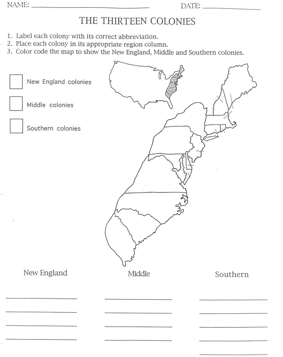 13 Colonies Map To Color And Label, Although Notice That They Have - 13 Colonies Blank Map Printable