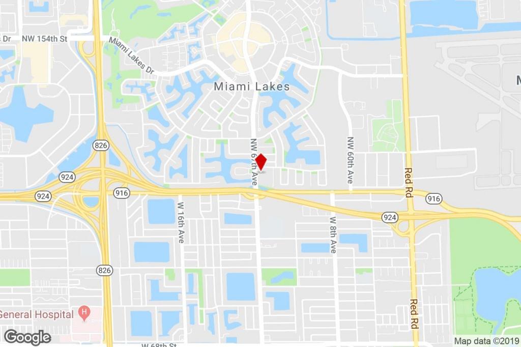 13905 Nw 67 Ave, Miami Lakes, Fl, 33014 - Strip Center Property For - Miami Lakes Florida Map