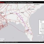 1448×1123 Map Of Southeast Mid Stream Natural Gas Pipelines, In   Florida Natural Gas Pipeline Map