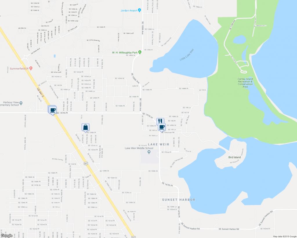 14825 Southeast 100Th Terrace, Summerfield Fl - Walk Score - Summerfield Florida Map