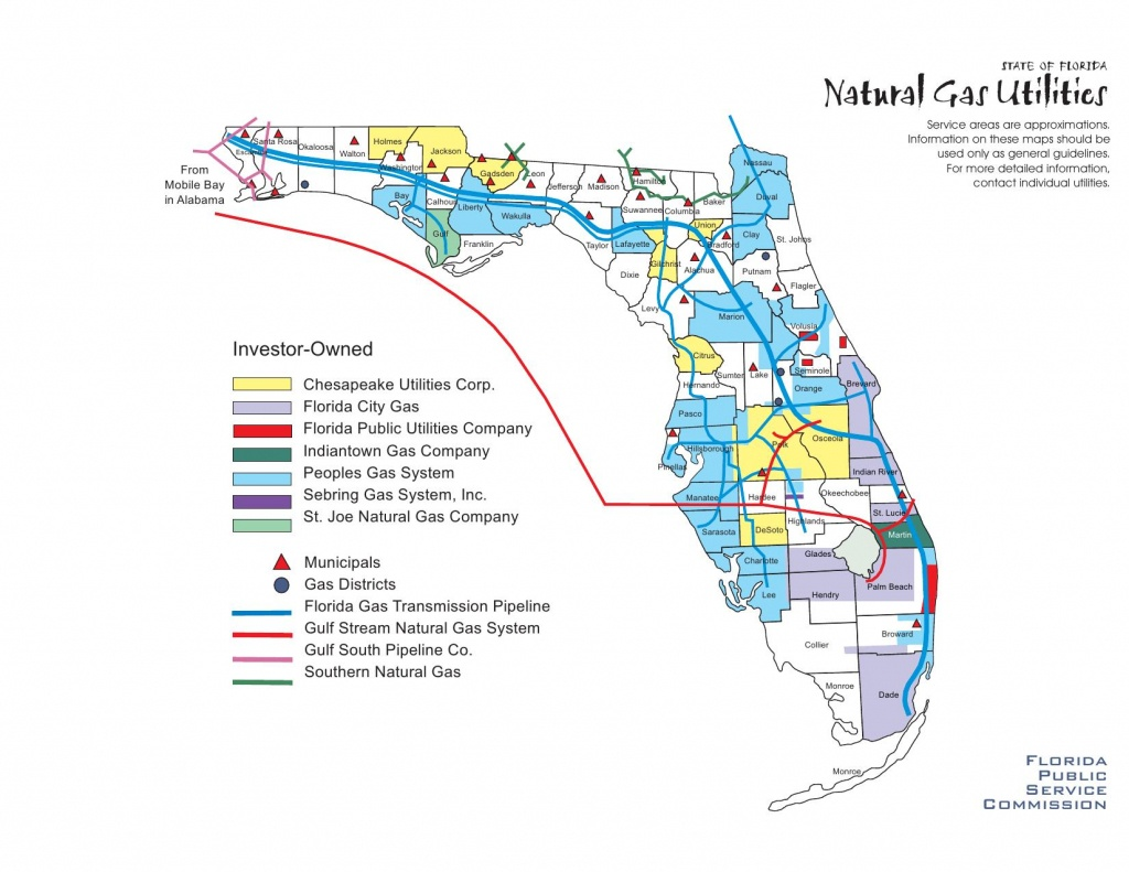 1650×1275 Natural Gas Utilities –Fl Psc, In Alternative 3: Armena To - Florida City Gas Service Area Map