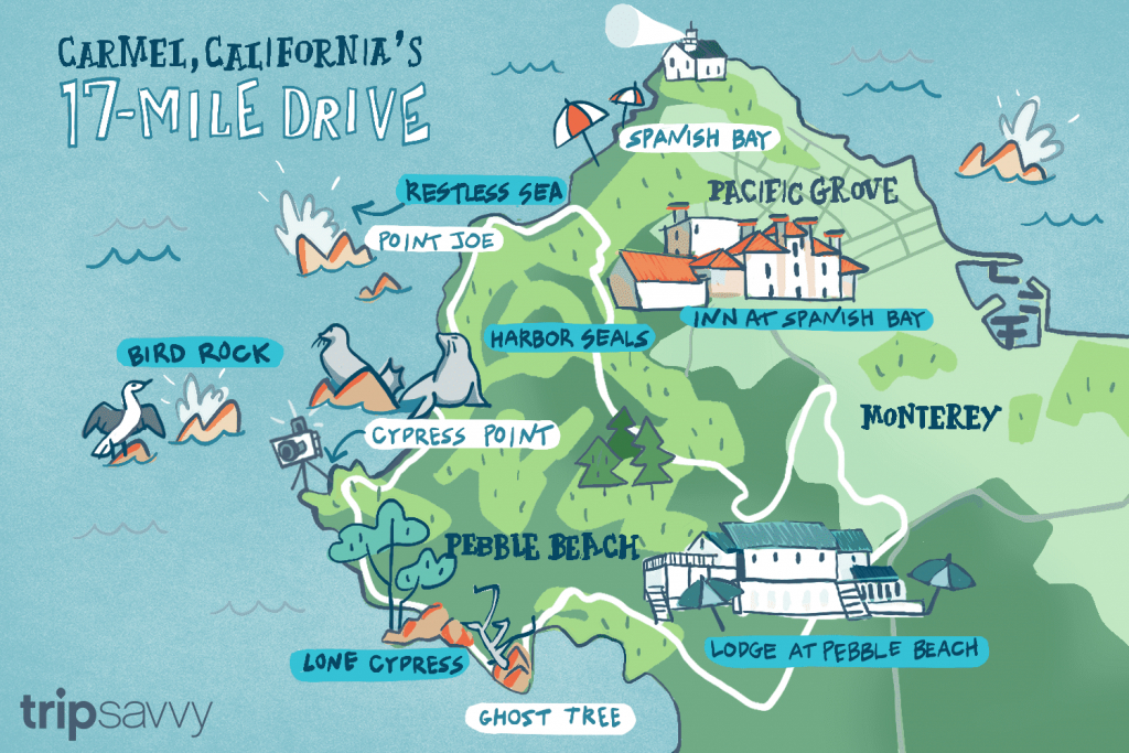 17-Mile Drive - Must-Do Stops And Proven Tips - 17 Mile Drive California Map