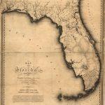 1823, Florida State Map, Florida, United States | Me Likey | Florida   Framed Map Of Florida
