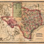 1866 Schönberg's Map Of Texas Historic Map 24X28 #vintage | Family   Texas Historical Maps