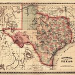 1866 Schönberg's Map Of Texas Schonberg Historic State Map Texan   Texas Map Wall Art