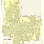1901 Antique Columbus City Map Reproduction Print Of Columbus Ohio   Printable Map Of Columbus Ohio