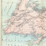 1902 Antique Newfoundland Map Of Newfoundland Canada Print Vintage   Printable Map Of Newfoundland