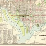 1906 Antique Washington Dc Map Vintage City Map Of Washington Dc   Washington Dc City Map Printable