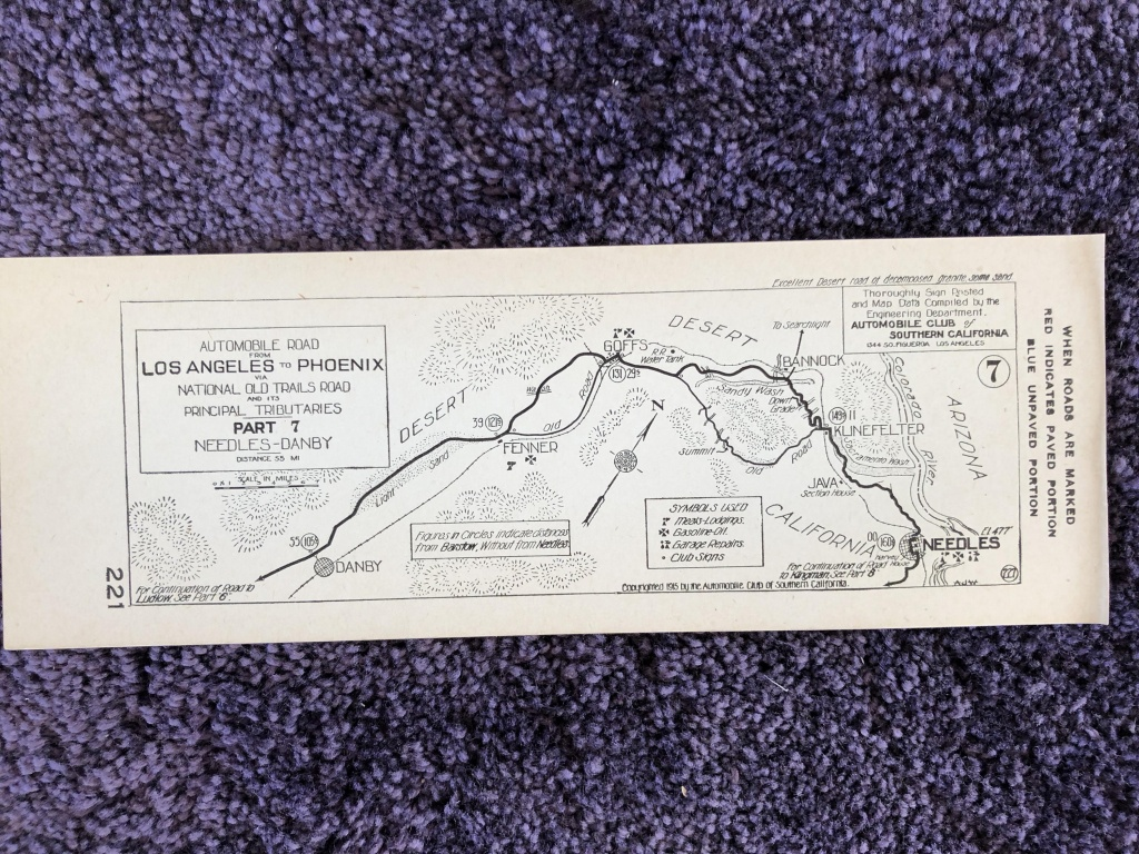 1915 Southern California Aaa Strip Map Los Angeles To | Etsy - Aaa California Map