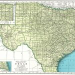 1946 Vintage Texas Map Of Texas State Map Print Gallery Wall Art Map – Vintage Texas Map Framed