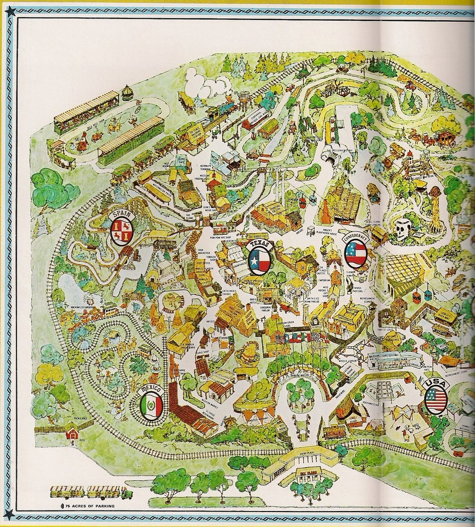 1966 Six Flags Over Texas Map | Yarbrough | Flickr - Six Flags Over Texas Map
