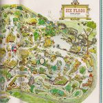 1966 Six Flags Over Texas Map | Yarbrough | Flickr   Six Flags Over Texas Map
