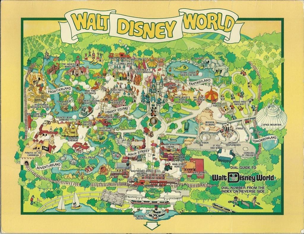 1980 Walt Disney World Dial Map | In August 1983 We Visited … | Flickr - Walt Disney Florida Map