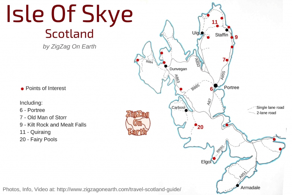20 Things To Do In Skye Island Scotland (2019 Guide + Map + Photos) - Printable Map Skye