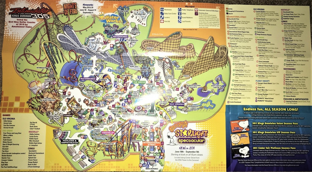 2011 Kings Dominion Map C2 A9Nick Cox California S Great America 6 - California's Great America Map