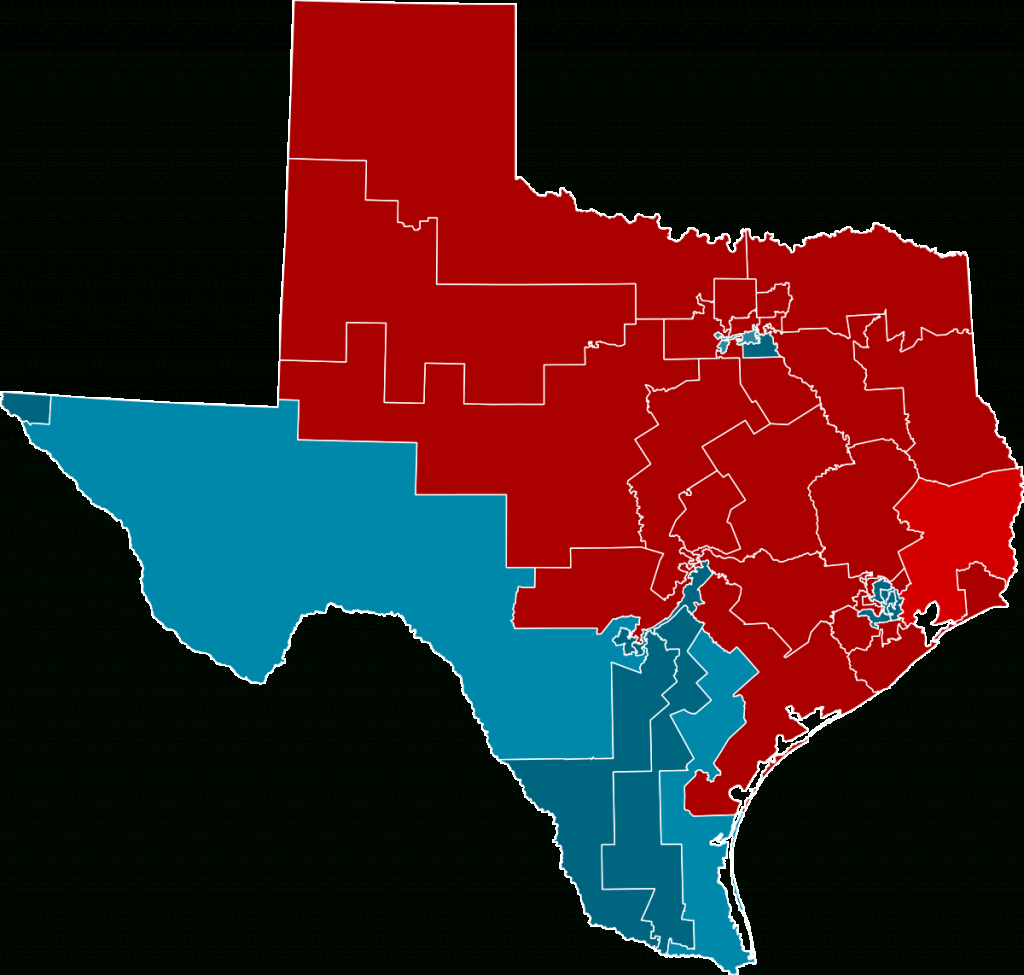 2012 United States House Of Representatives Elections In Texas - Texas Us Representative District Map