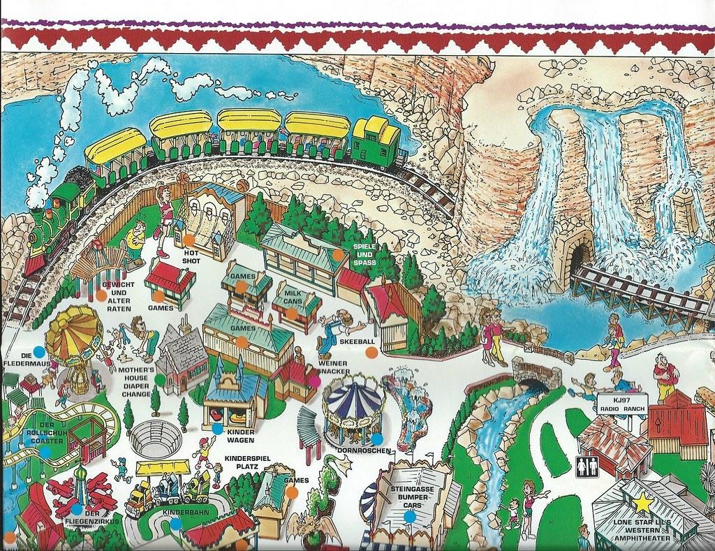2015 June 6   1992 Fiesta Texas, San Antonio Map, Before Six…   Flickr - Fiesta Texas Map