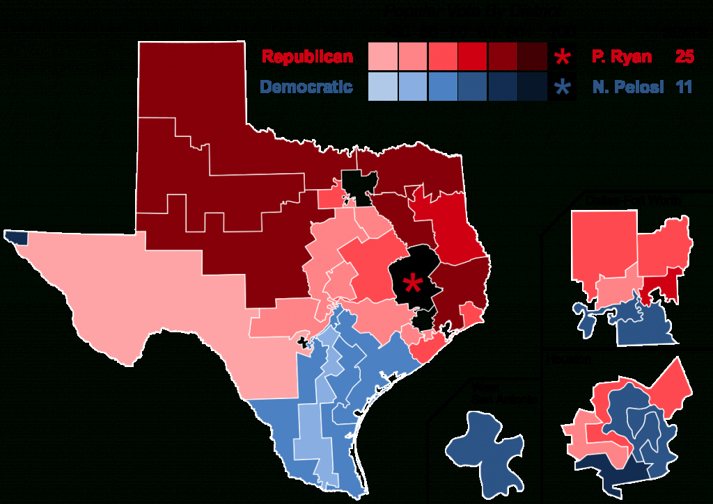 2016 United States House Of Representatives Elections In Texas - Texas State Representatives Map