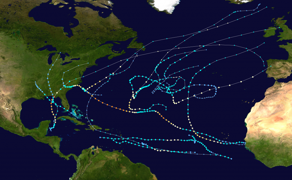 2018 Atlantic Hurricane Season - Wikipedia - Printable Hurricane Tracking Map 2016