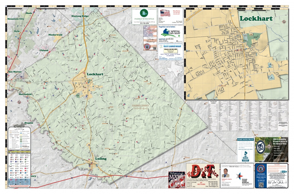 2018 Edition Map Of Luling, Tx - Luling Texas Map