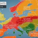 2018 Europe Summer Forecast: Intense Heat To Seize France To Germany   Weather Heat Map California