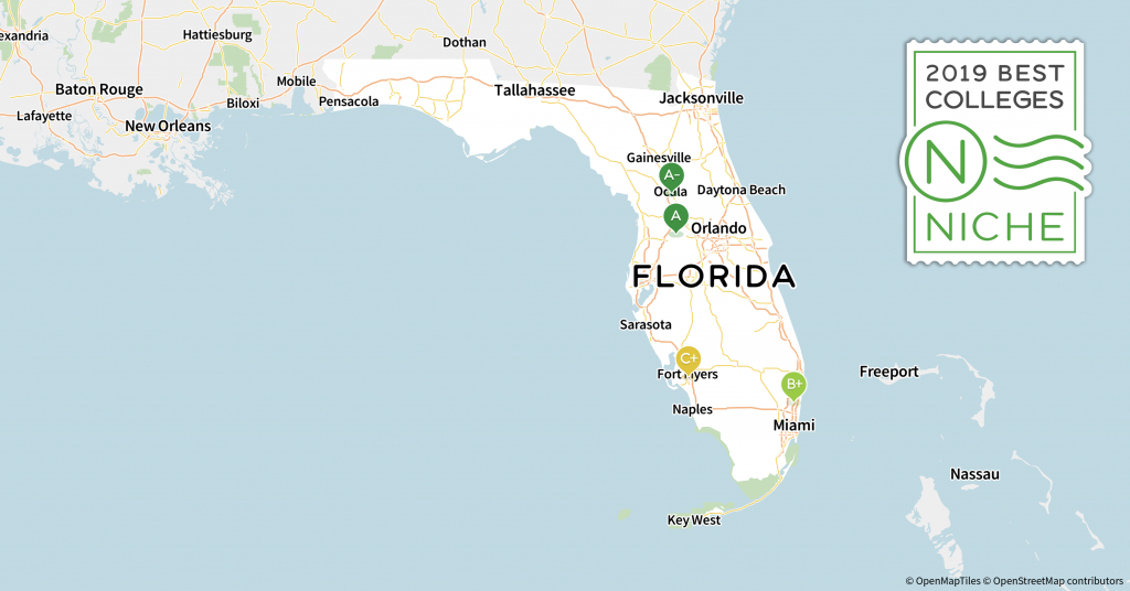 2019 Best Colleges In Florida - Niche - Miami Lakes Florida Map