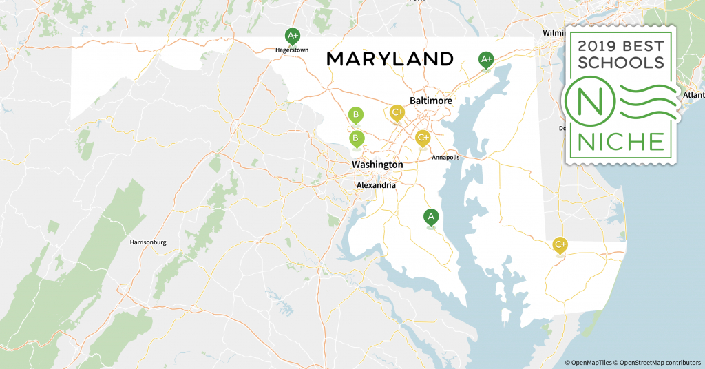 2019 Best School Districts In Maryland - Niche - California School District Rankings Map