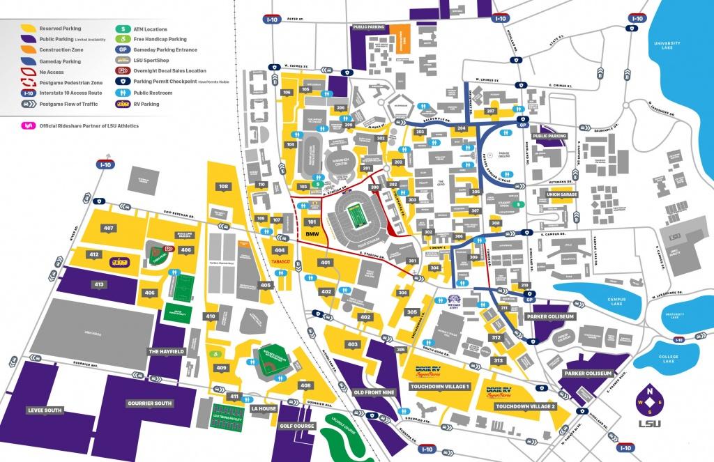2019 Lsu Football Parking Map - Lsusports - The Official Web - Texas Tech Football Parking Map 2017