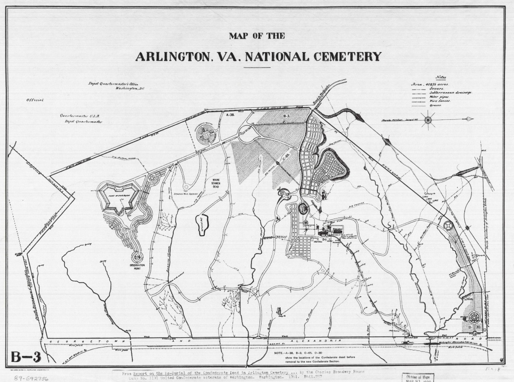 2019 May | Worlds Revealed: Geography & Maps At The Library Of Congress - Arlington Cemetery Printable Map