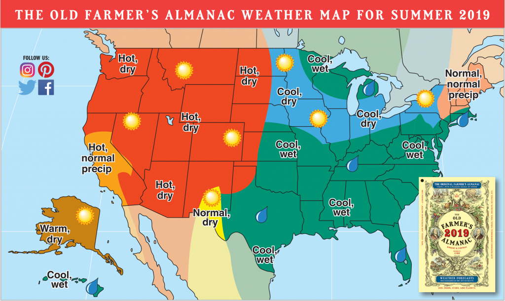 2019 Summer Forecast: Hotter Temps Out West, Rain For Others   The - Florida Weather Map Temperature