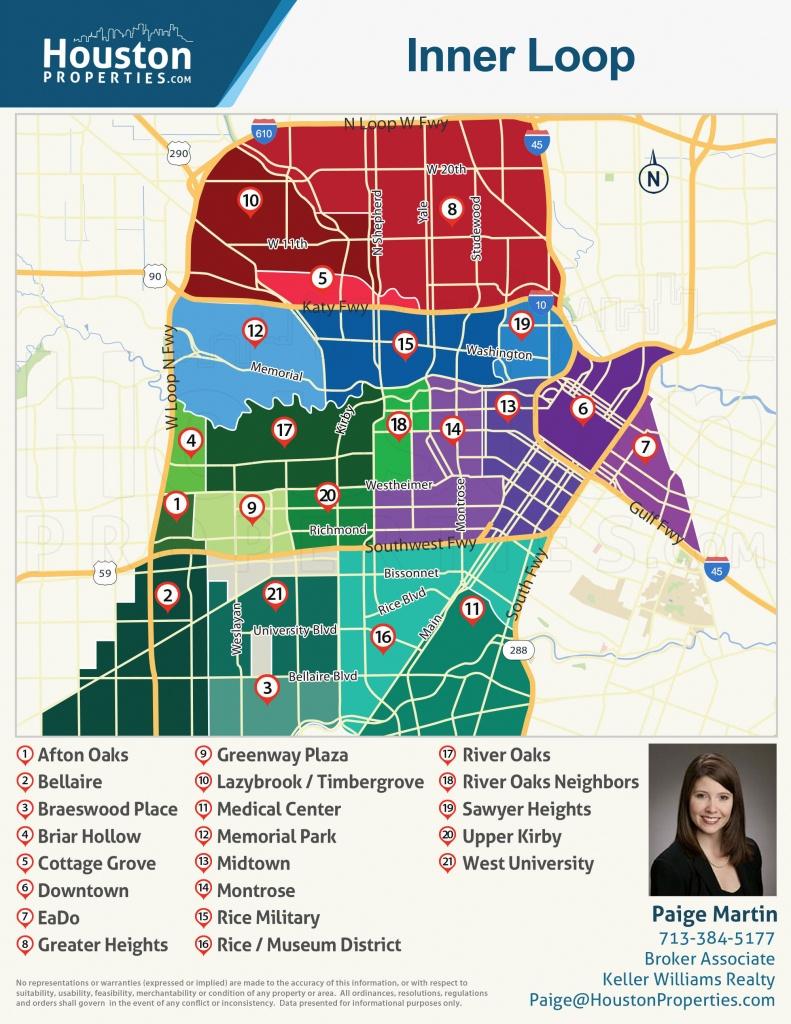 2019 Update: Houston Neighborhoods | Houston Map, Real Estate, Homes - Downtown Houston Map Printable
