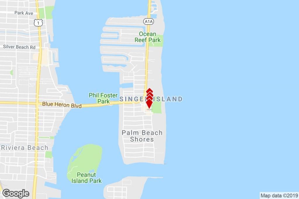 2401 N Ocean Dr, Singer Island, Fl, 33404 - Property For Lease On - Singer Island Florida Map