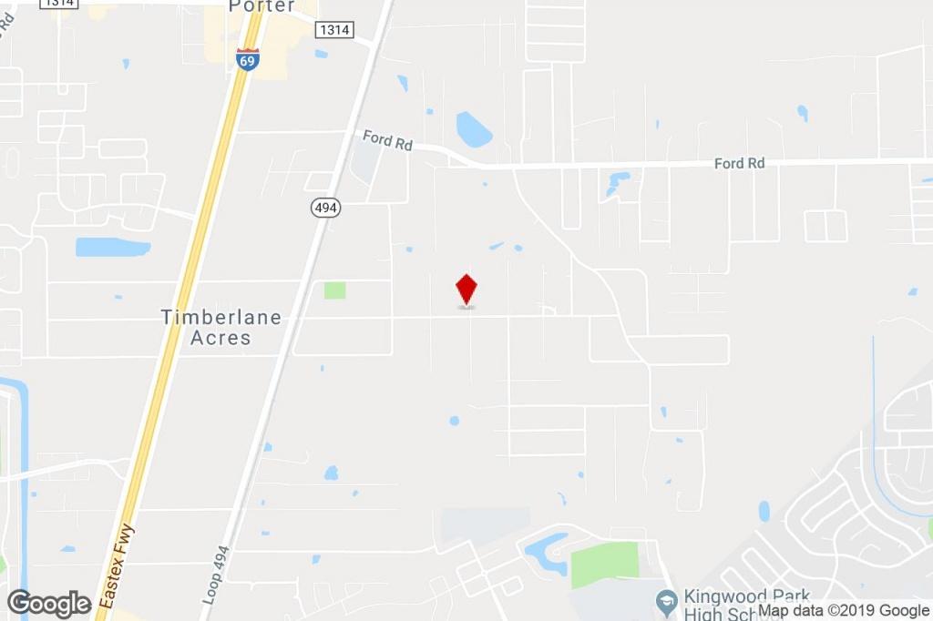 24640 Wayne Rd, Porter, Tx, 77365 - Light Manufacturing Property For - Porter Texas Map