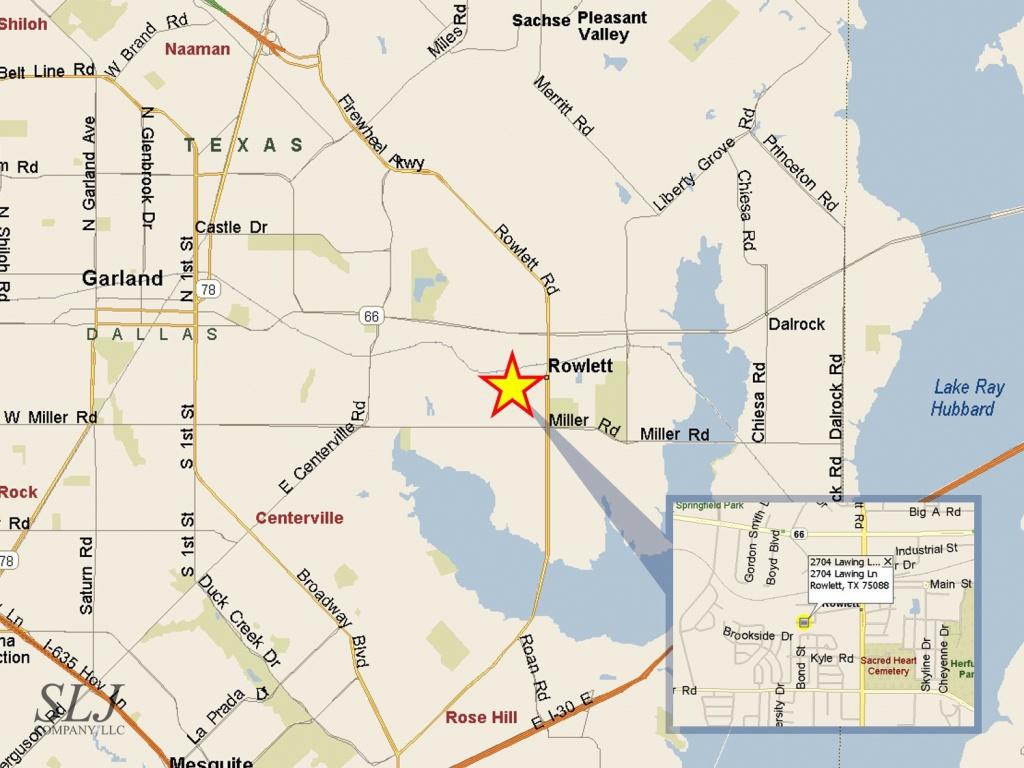 2704 Lawing Ln, Rowlett, Tx | Slj Company, Llc - Rowlett Texas Map