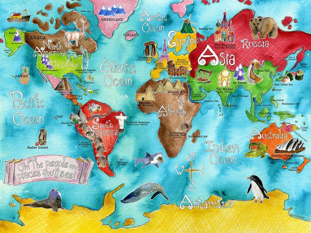 283205 925979 Children S Map Of The World 8 - World Wide Maps - Children's Map Of The World Printable