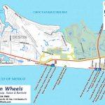 30A & Destin Beach Access   Destin Wheels Rentals In Destin, Fl   Emerald Coast Florida Map