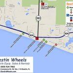 30A & Destin Beach Access   Destin Wheels Rentals In Destin, Fl   Map Of Destin Florida Area