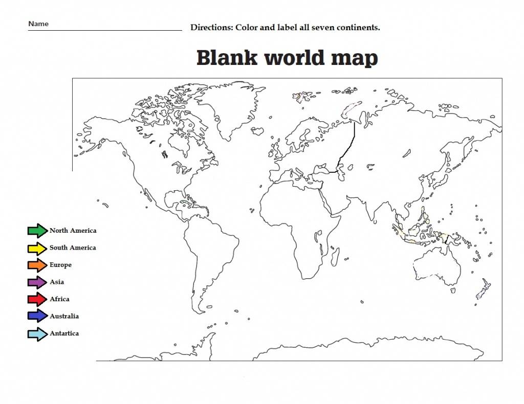 38 Free Printable Blank Continent Maps | Kittybabylove - Me On The Map Printables