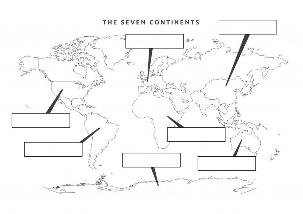38 Free Printable Blank Continent Maps | Kittybabylove - Printable Map Of The 7 Continents And 5 Oceans
