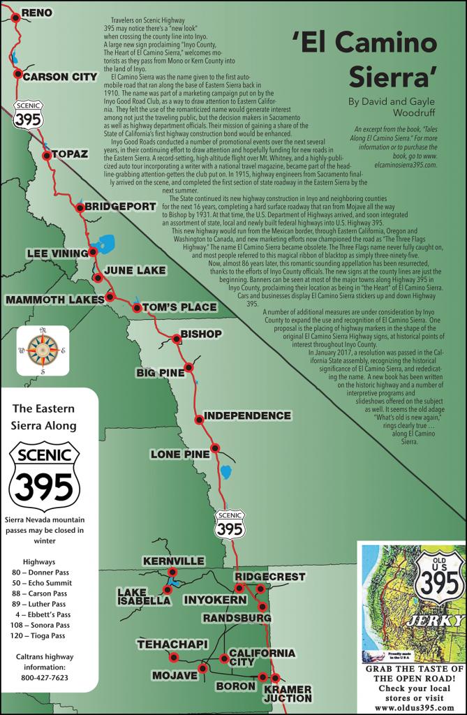 395 Map - Scenic 395 - Route 395 California Map