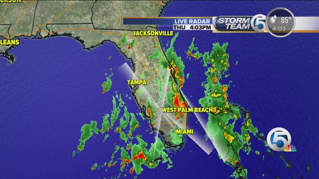 4 P.m. Thursday Weather Forecast For South Florida - Youtube - Florida Doppler Radar Map