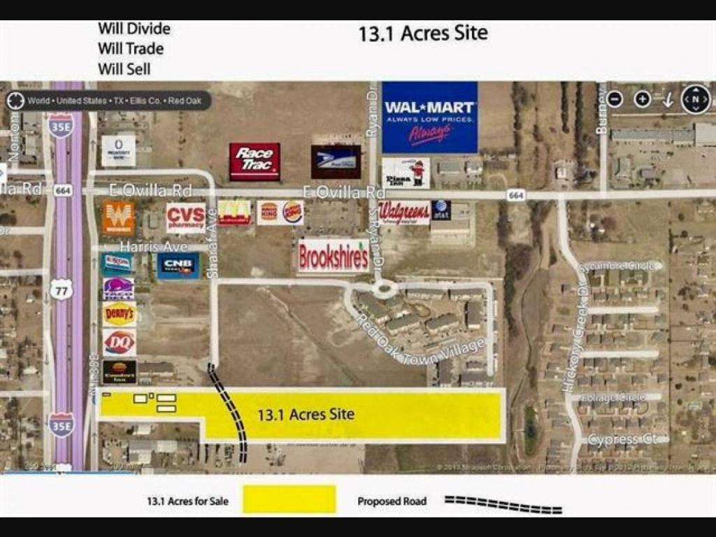 402 N Interstate 35 Road, Red Oak, Tx 75154 - Mls Id 13922029 - Red Oak Texas Map