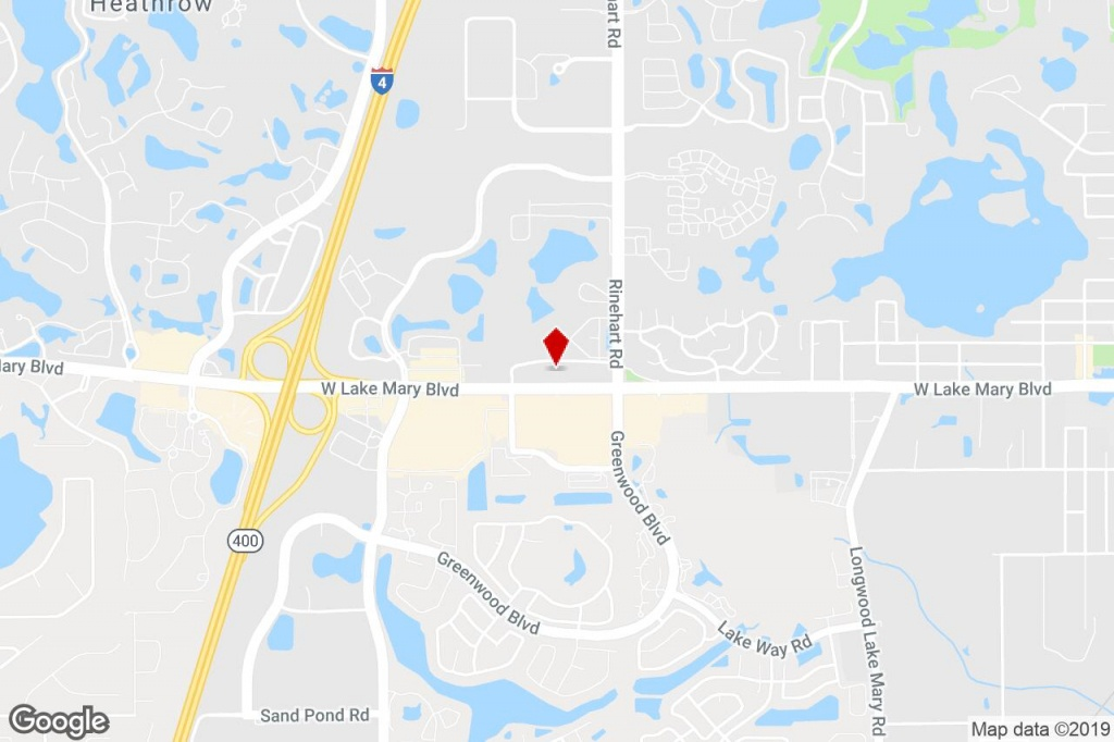 4106 W Lake Mary Blvd, Lake Mary, Fl, 32746 - Medical Property For - Map Of Lake Mary Florida And Surrounding Areas